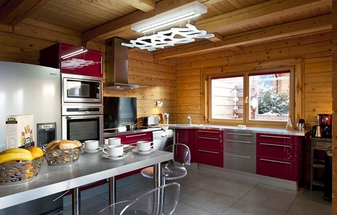 La Plagne Location Chalet Luxe Jacobsite Cuisine