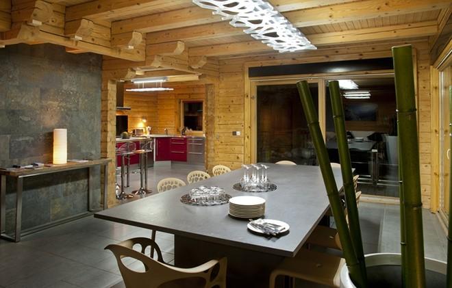 La Plagne Location Chalet Luxe Jacobsite Salle à Manger