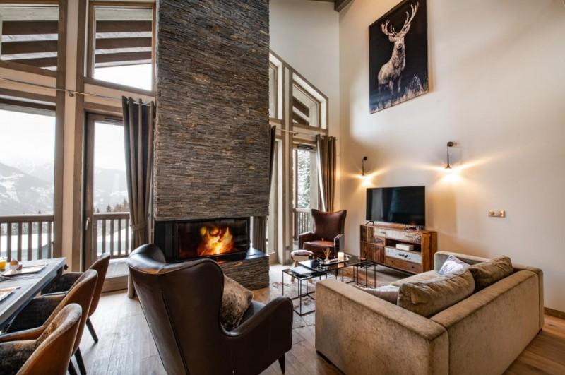 La Tania Luxury Rental Chalet Alta Living Room