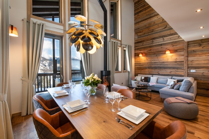 La Tania Luxury Rental Chalet Alte Dining Room