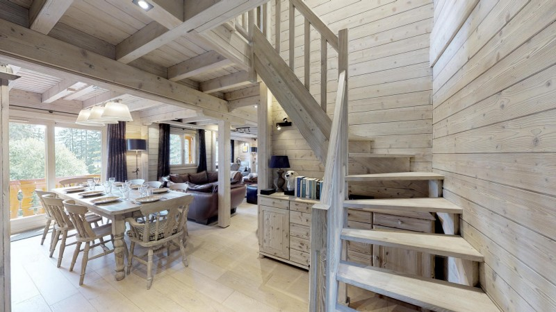 La Tania Location Chalet Luxe Coukite Salle A Manger