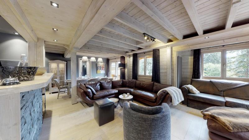 La Tania Location Chalet Luxe Coukite Salon