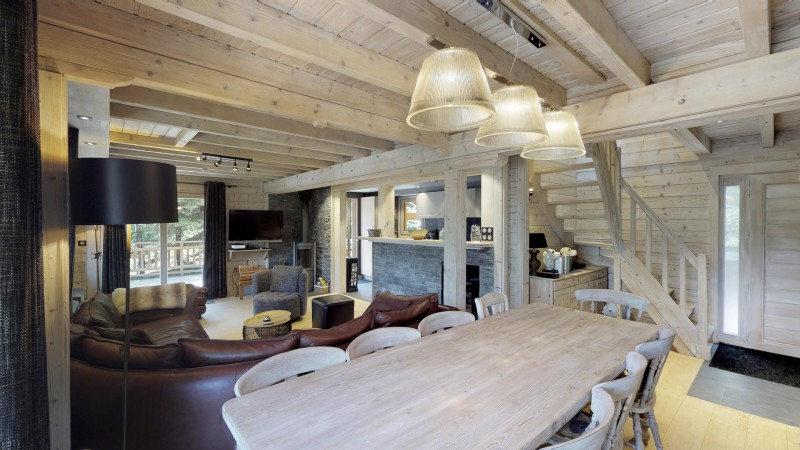 La Tania Location Chalet Luxe Coukite Table A Manger