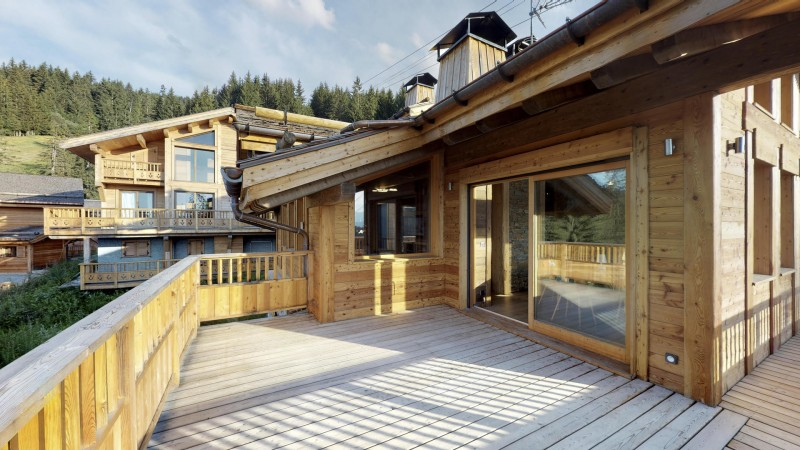La Tania Location Chalet Luxe Couzite Terrasse