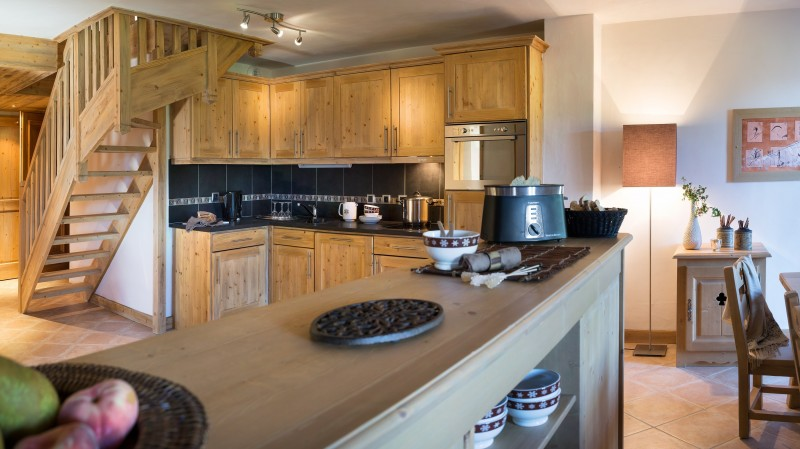 Le Grand Bornand Location Appartement Luxe Leucite Duplex Cuisine