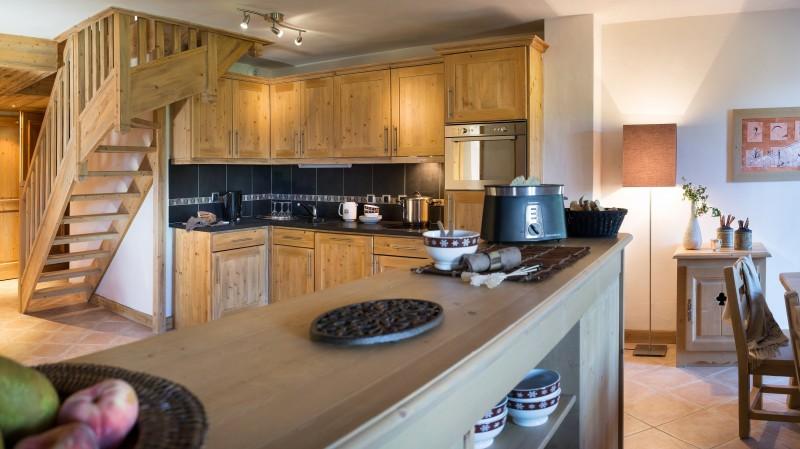 Le Grand Bornand Location Appartement Luxe Leukorite Duplex Cuisine