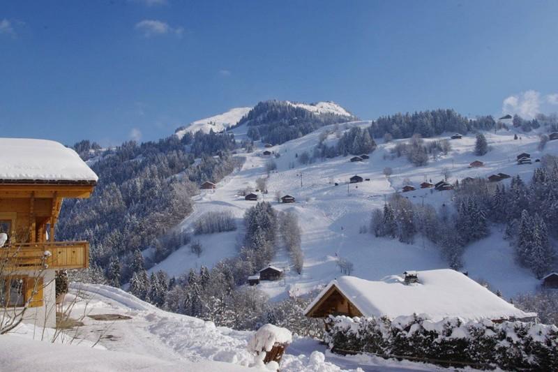 Le Grand Bornand Location Chalet Luxe Leonite Vue Montagne