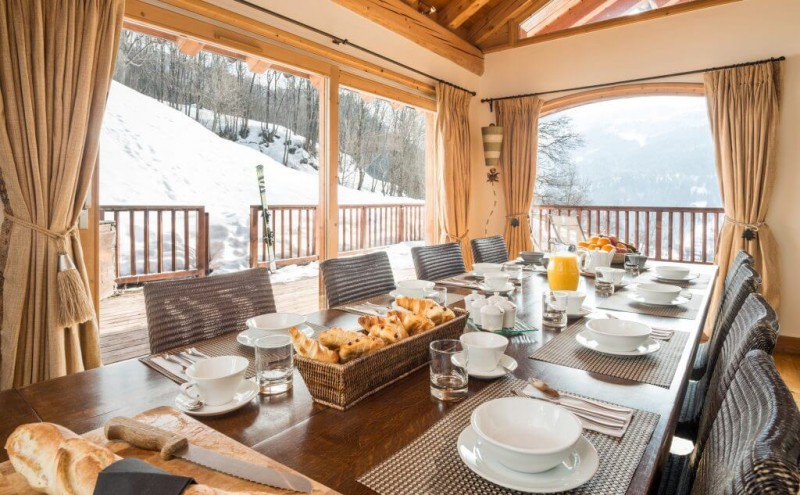 Les Allues Location Chalet Luxe Manalite Salle A Manger
