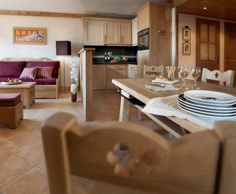 Les Carroz D'Araches Location Appartement Luxe Lacibe Duplex Cuisine