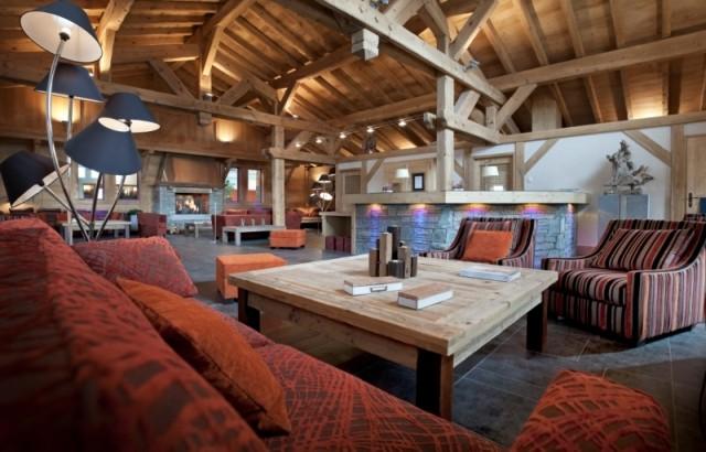 Les Carroz D'Araches Location Appartement Luxe Lacibe Duplex Réception 1