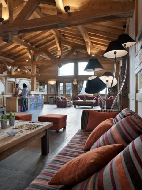 Les Carroz D'Araches Location Appartement Luxe Lacibe Duplex Reception 2