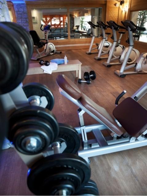Les Carroz D'Araches Location Appartement Luxe Lacibe Duplex Salle De Fitness