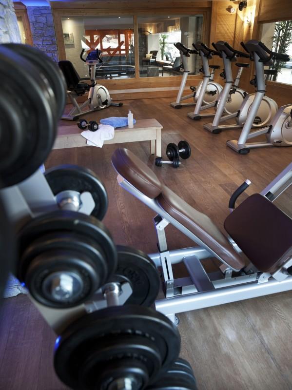 Les Carroz D'Araches Location Appartement Luxe Lilalite Salle De Fitness