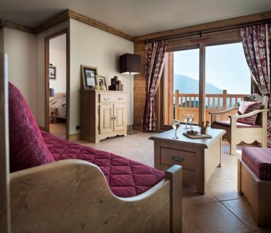 Les Carroz D'Araches Location Appartement Luxe Limonite Salon