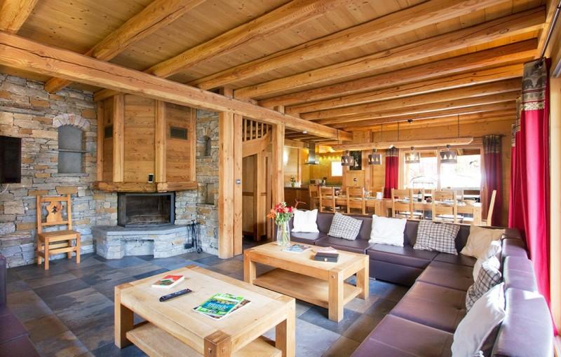 Les Deux Alpes Location Chalet Luxe Cervantate Salon