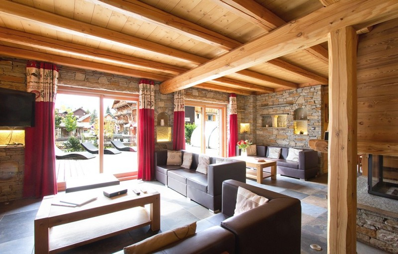 Les Deux Alpes Rental Chalet Luxury Cervantote Living Room