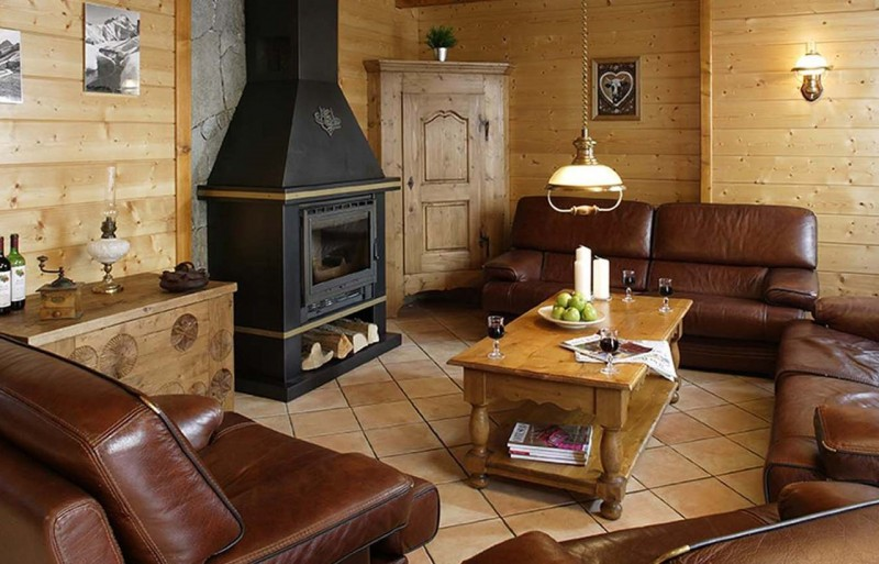 Les Deux Alpes Location Chalet Luxe Cervantyte Salon