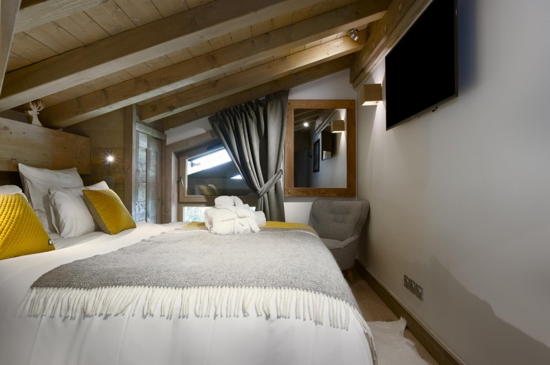 Les Gets Location Appartement Luxe Ancolie Chambre