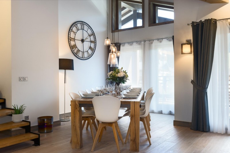 Les Gets Location Appartement Luxe Ancolie Salle A Manger