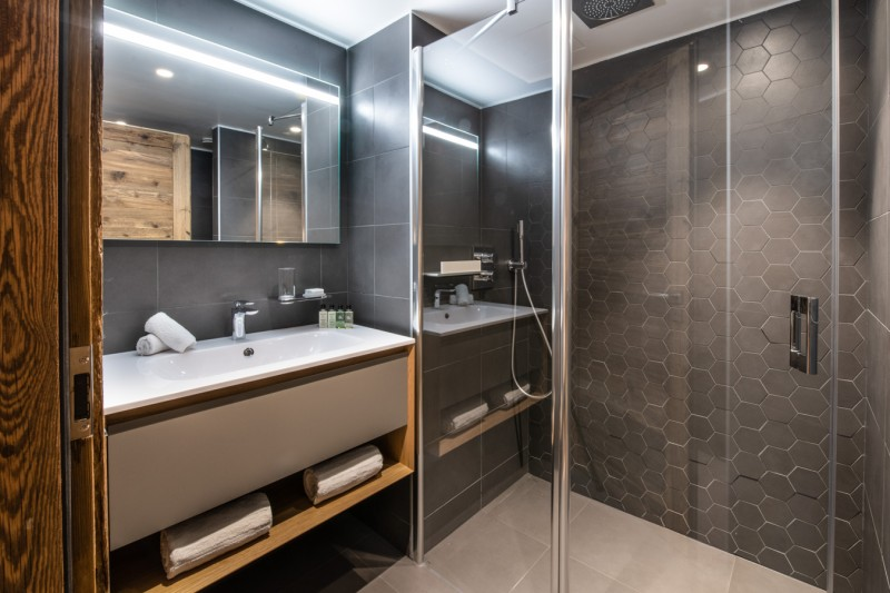 Les Gets Luxury Rental Appartment Andeme Bathroom