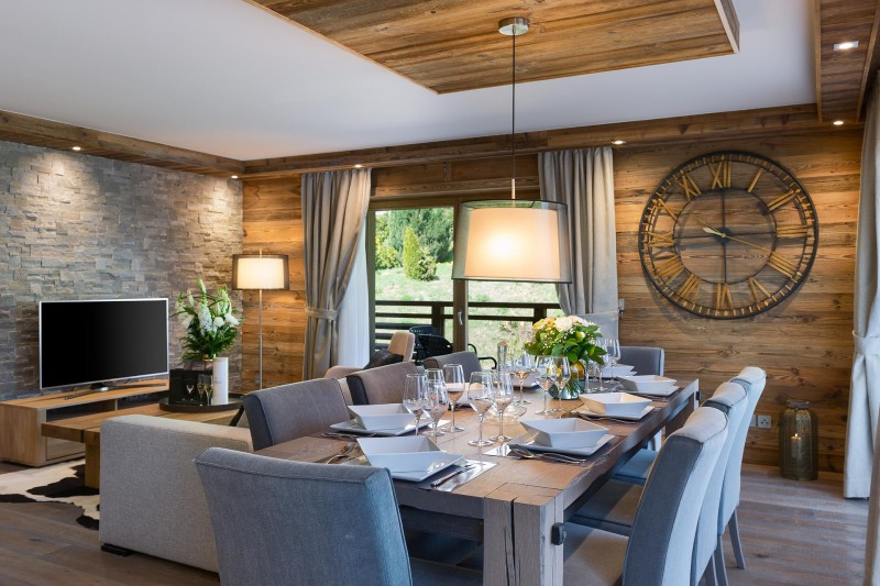 Les Gets Location Appartement Luxe Andime Salle A Manger