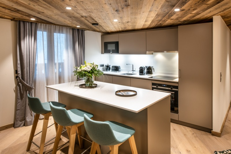 Les Gets Location Appartement Luxe Andome Cuisine