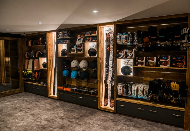 Les Gets Location Appartement Luxe Andome Ski Room