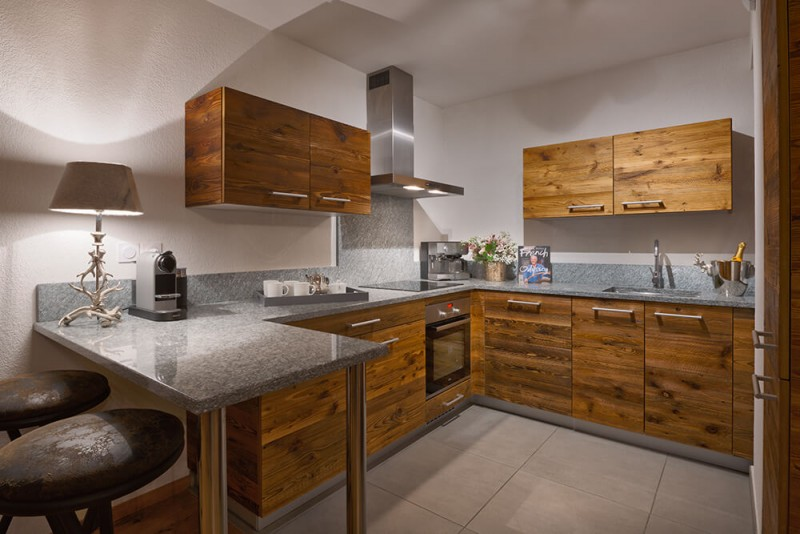 Les Gets Location Appartement Luxe Dariana Cuisine