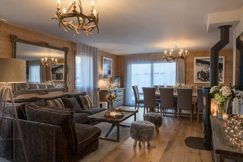 Les Gets Location Appartement Luxe Dariana Salon 1