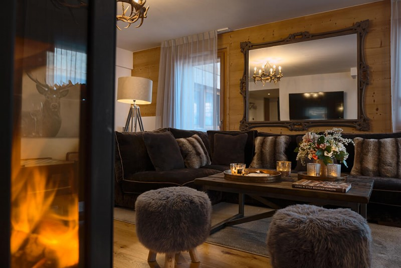 Les Gets Location Appartement Luxe Dariana Séjour
