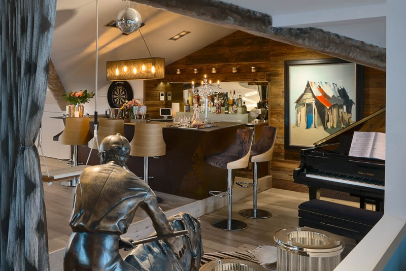 Les Gets Luxury Rental Appartment Europa Piano Bar