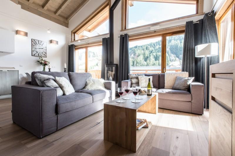 Les Gets Luxury Rental Chalet Anrolle Living Room 2