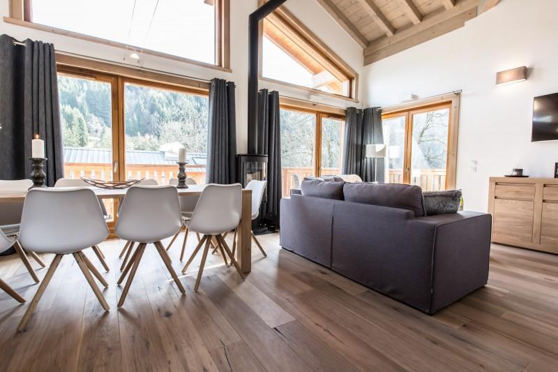 Les Gets Luxury Rental Chalet Anrolle Living Room