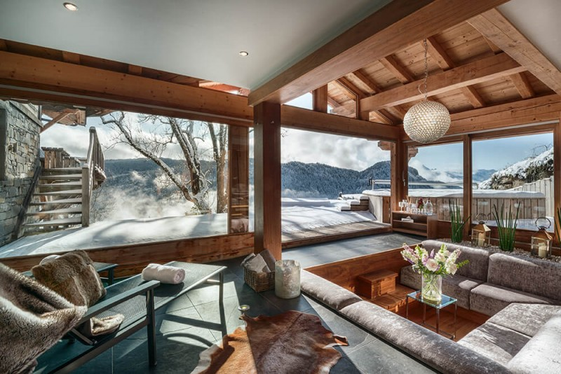 Les Gets Location Chalet Luxe Gedrite Canapé