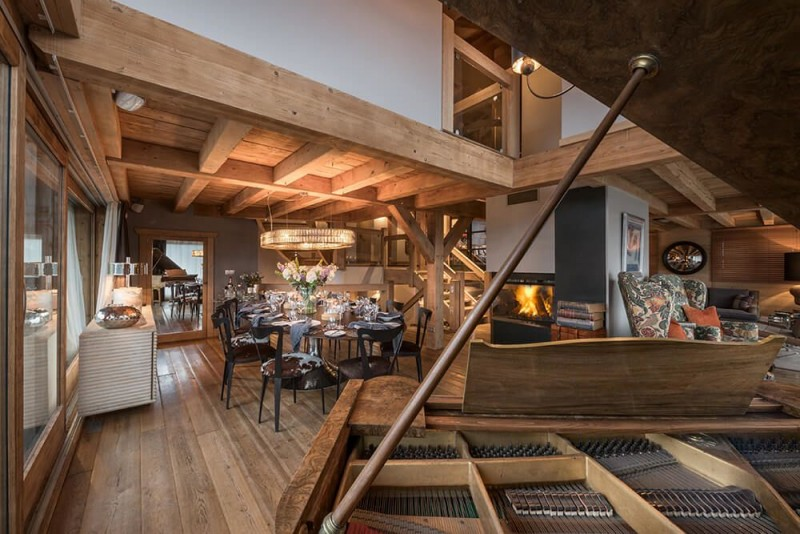 Les Gets Location Chalet Luxe Gedrite Piano