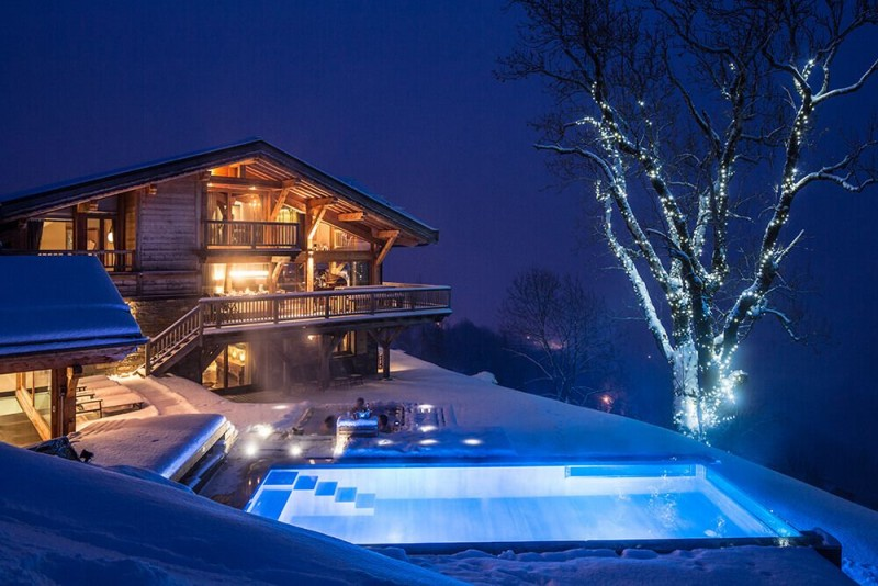 Les Gets Location Chalet Luxe Gedrite Piscine