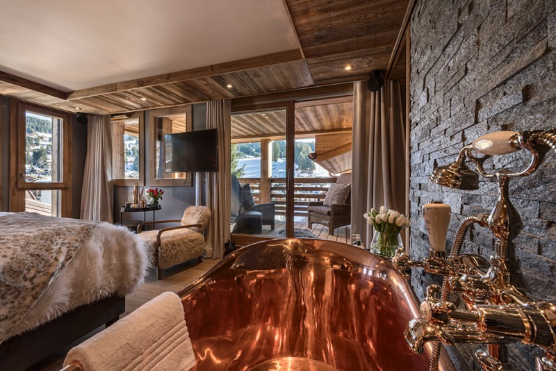 Les Gets Luxury Rental Chalet Gedrute Bathtub