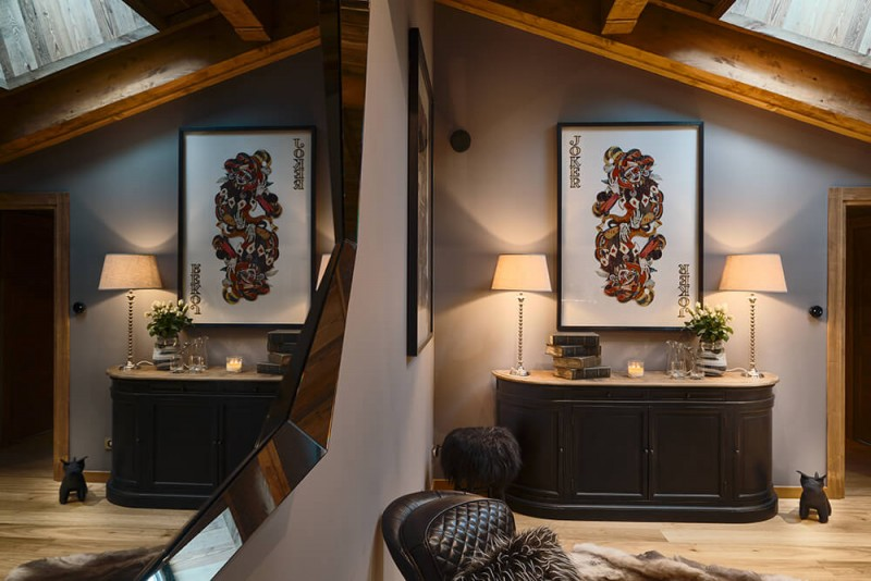 Les Gets Luxury Rental Chalet Gedrute Living Room 2