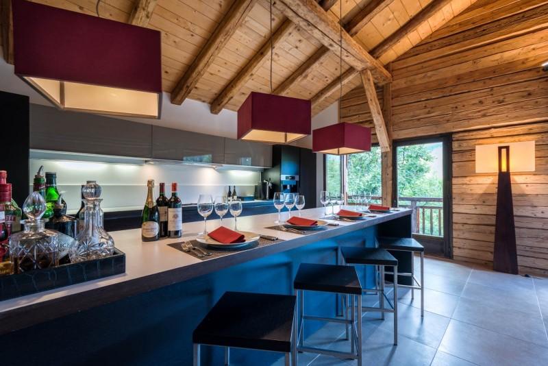 Les Gets Location Chalet Luxe Geigerite Cuisine