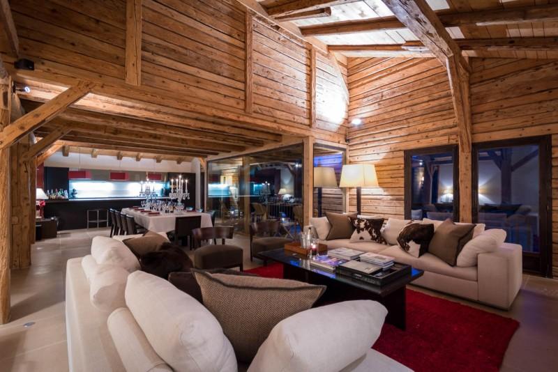 Les Gets Location Chalet Luxe Geigerite Salon