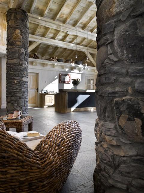 Les Houches Location Appartement Luxe Jacinthe Duplex Réception