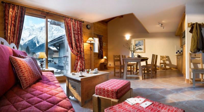 Les Houches Location Appartement Luxe Jacinthe Séjour