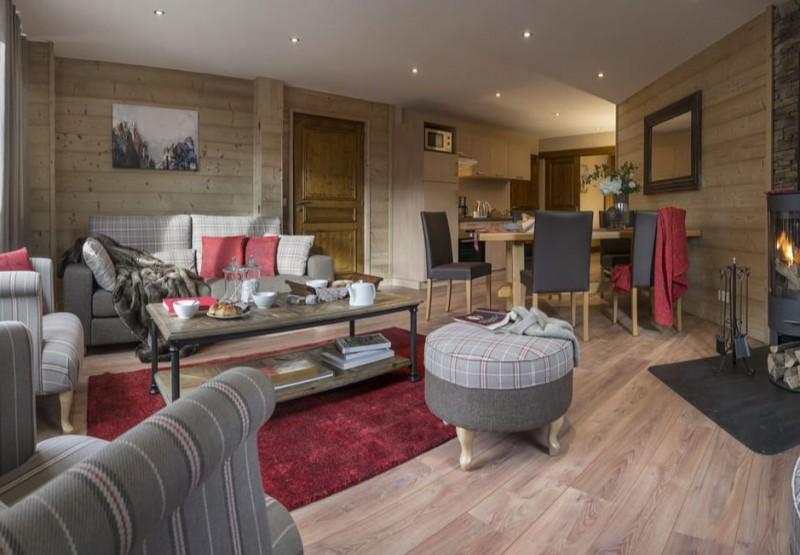 Les Menuires Location Appartement Luxe Amina Séjour 2