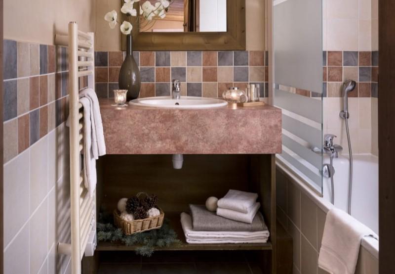 Les Menuires Luxury Rental Appartment Amino Bathroom