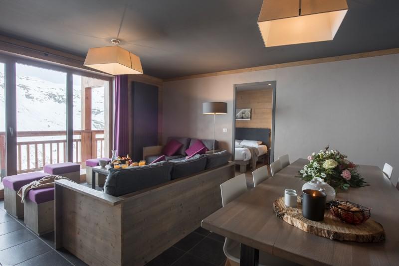 Les Menuires Location Appartement Luxe Calcine Salon 1