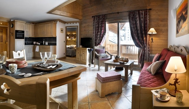 Les Menuires Location Appartement Dans Résidence Luxe Landerite Salon