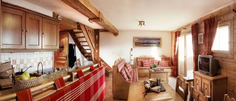 Les Saisies Location Appartement Dans Résidence Luxe Leberstein Duplex Salon
