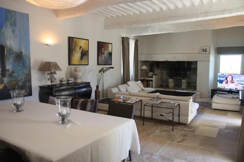 Luberon Location Villa Luxe Leucin Séjour 3