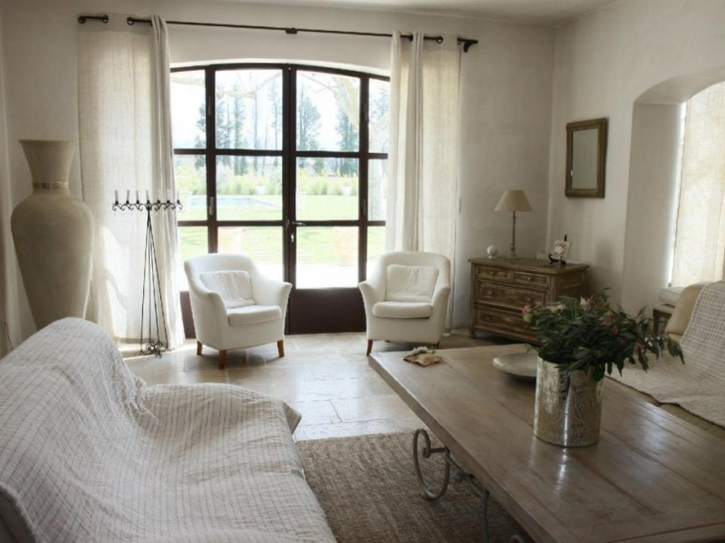 Luberon Location Villa Luxe Limette Séjour