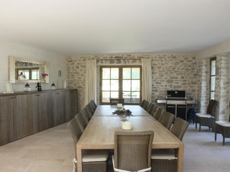 Luberon Luxury Rental Villa Lin Jaune Dining Room